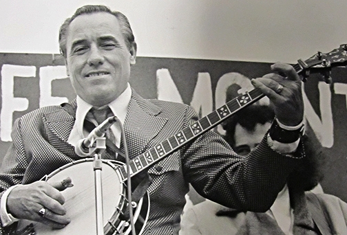 From the Archives:  Earl Scruggs at the Green Mountain Banjo Festival in Milton Vermont-1971.  Photo by Ron Petronko.