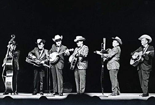 From the Archives:  Lester Flatt and Earl Scruggs with the Foggy Mountain Boys at the Place des Arts, Montreal, Canada 1968.  Photo by Ron Petronko.