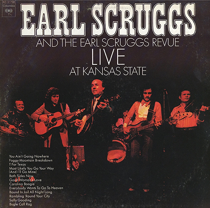 From the Archives:  Album by Earl Scruggs and the Earl Scruggs Revue Live at Kansas State.  Donated by Henry Horrocks.