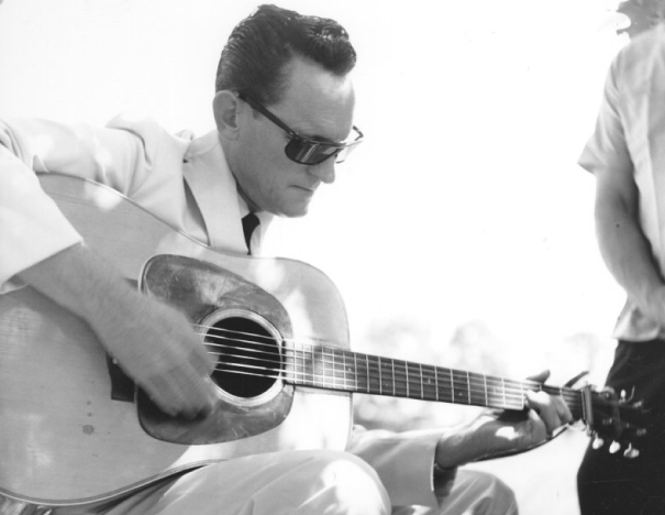 From the Archives:  Don Reno at the Roanoke Blue Grass Festival in Fincastle, Virginia 1965.  Photo by Ron Petronko.
