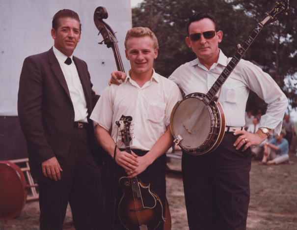 From the Archives:  Donald Austin, Ronnie Reno and Don Reno at the Fincastle Bluegrass Festival in Fincastle, VA-1965. Photo by Ron Petronko.