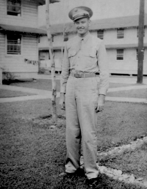 From the Archives:  Red Smiley in military attire during WWII, undated. Photo donated by Ronnie Reno.