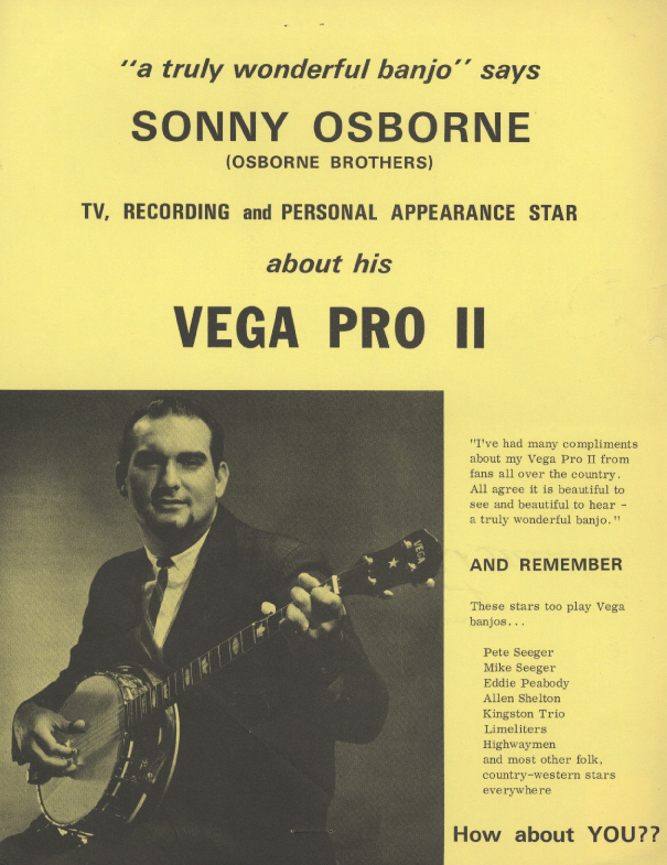 From the Archives:  Flier  for Vega Pro 11- Sonny Osborne.   Donated by Cliff Provo.