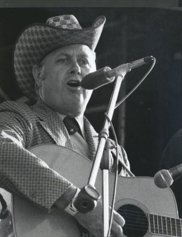 From the Archives:  Jimmy Martin at the Carlisle Bluegrass Festival at Courtcliffe Park in Carlisle, Ontario-1973.  Photo by Ron Petronko.