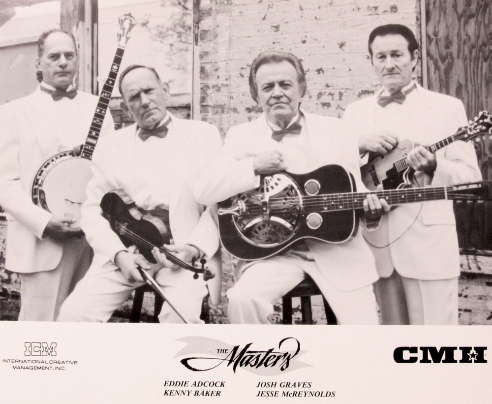 From the Archives:  The Masters: ICM International Creative Management. Inc. Eddie Adcock, Kenny Baker, Josh Graves, and Jesse McReynolds.   Donated by Keith Lawrence.