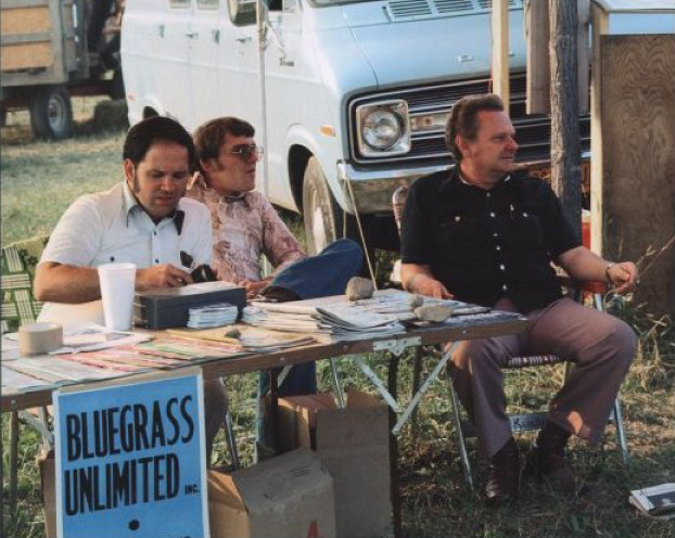 From the Archives:  Pete Kuykendall, Ralph Stanley and Renfro Profitt at the Berkshire Mountains Festival, NY (late 1970's).   Photo by Ron Petronko.