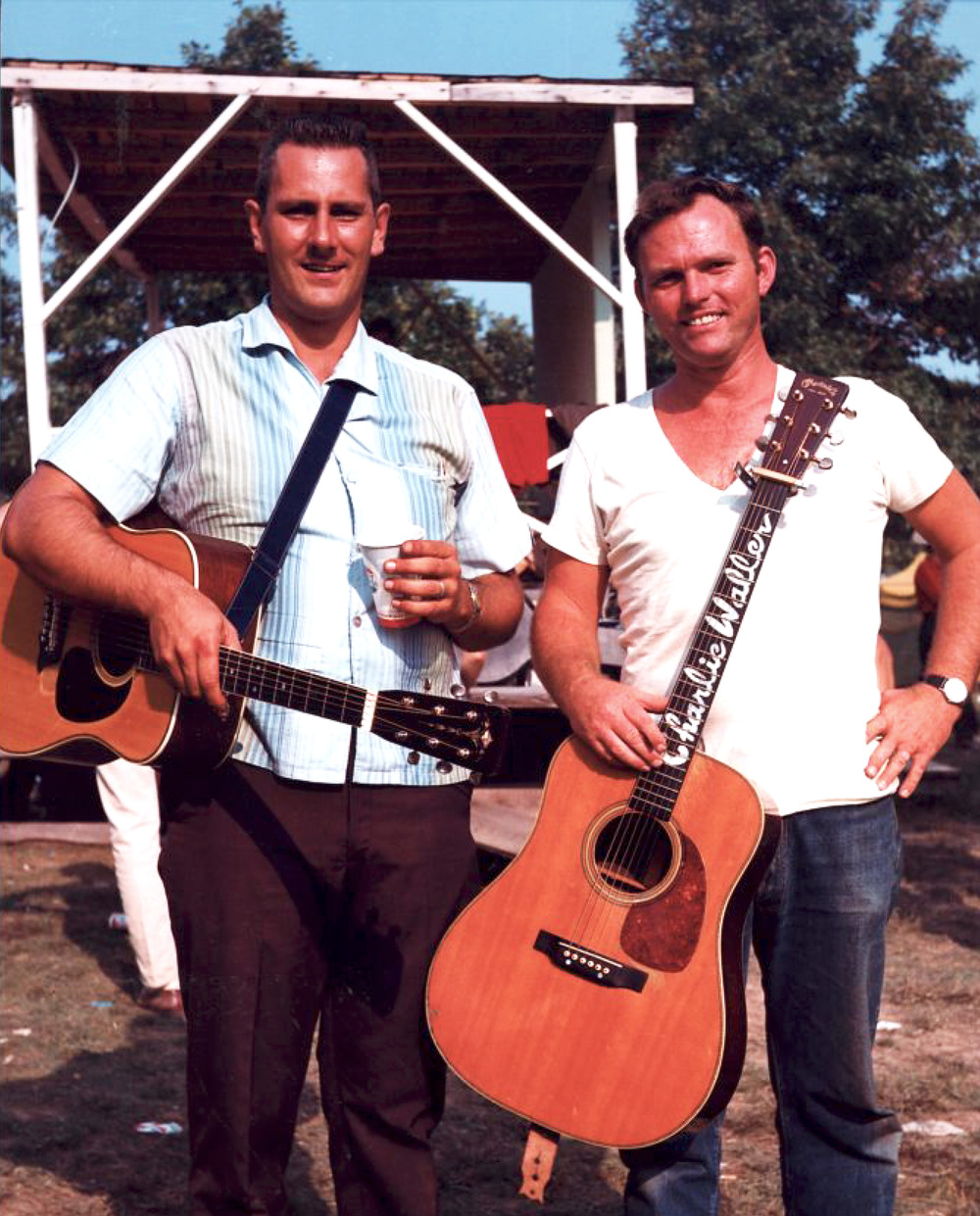 From the Archives:  John Duffey and Charlie Waller at Fincastle, VA 1966.   Photo by Ron Petronko.