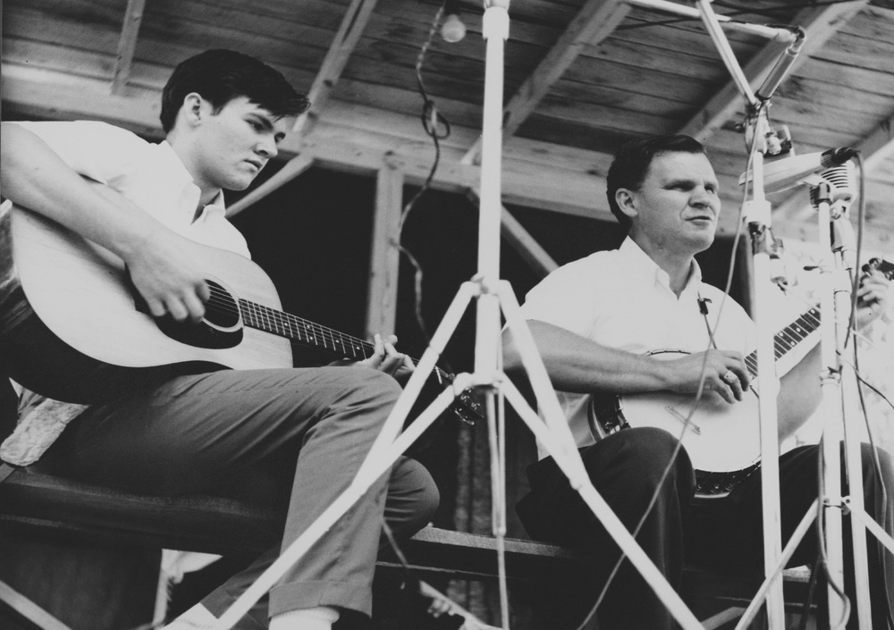 From the Archives:  Merle and Doc Watson at the Roanoke Blue Grass Festival in Fincastle, Virginia 1965.  Photo by Ron Petronko.