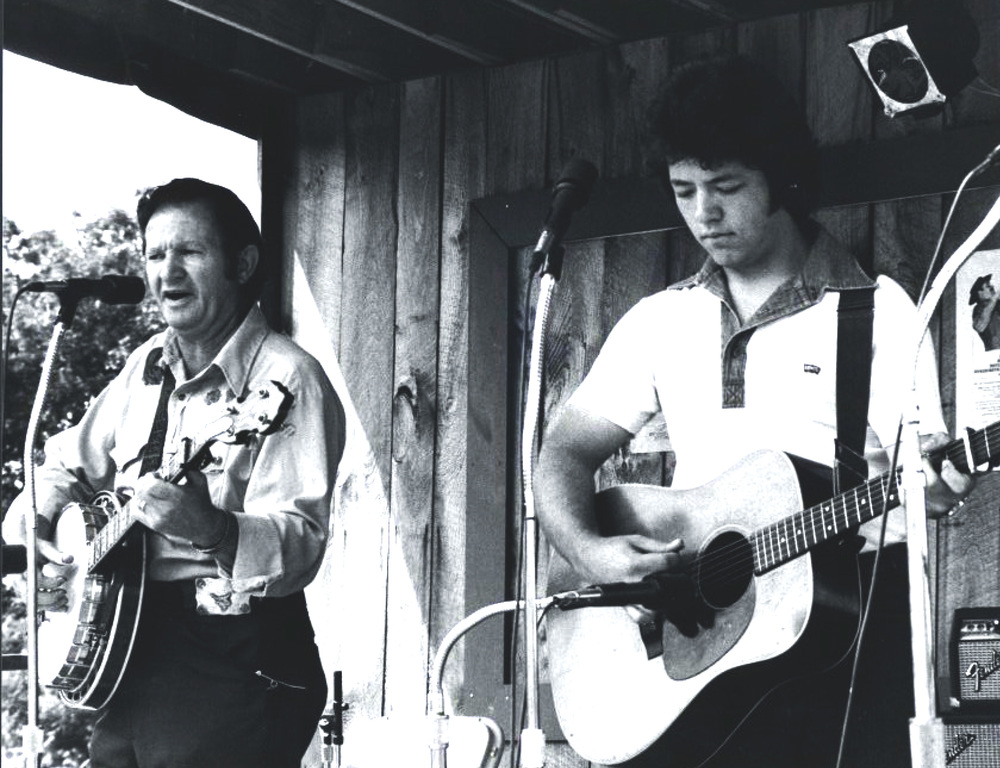 From the Archives:  Don Stover and David Parmley at the Berkshire Mountains Festival in Ancramdale, New York late 1970's.    Photo by Ron Petronko.