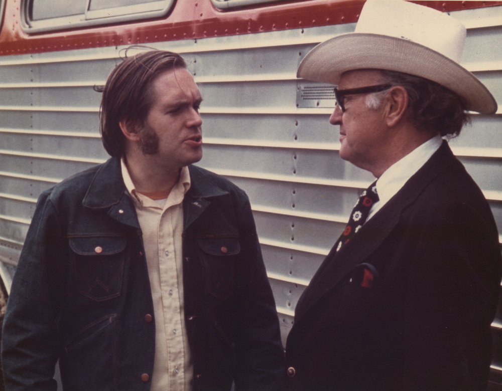 From the Archives:  Bill Vernon and Bill Monroe, undated.   From the Bill Vernon Collection.
