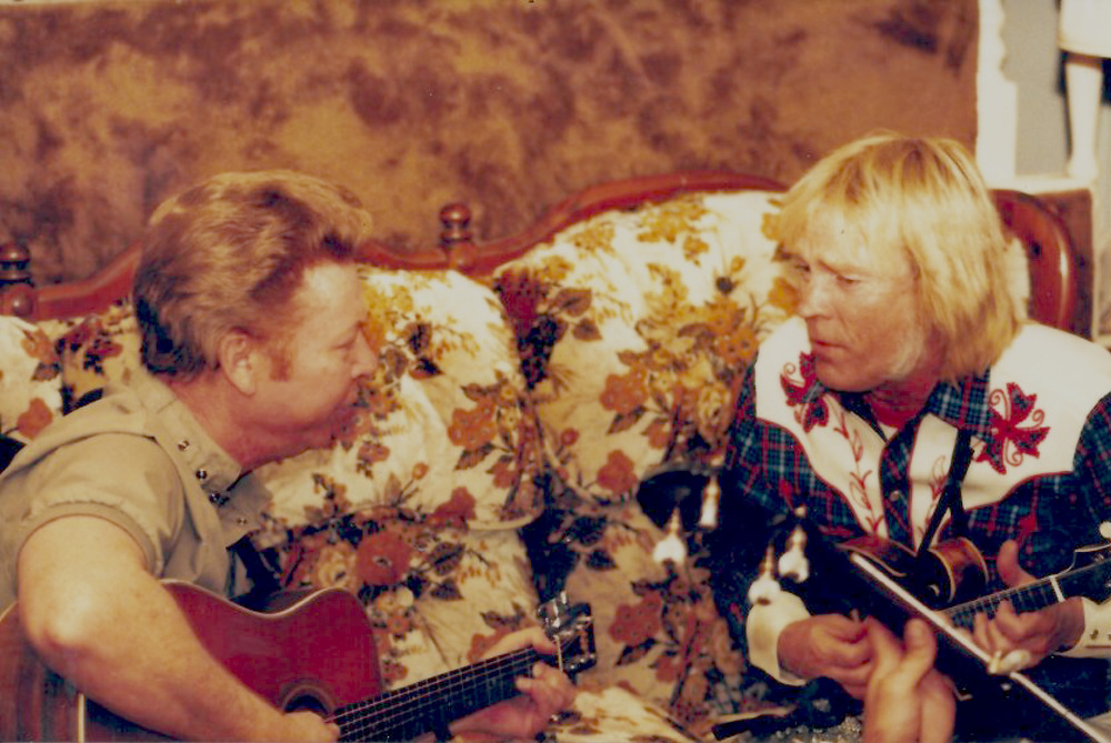 From the Archives:  Red Allen and Frank Wakefield writing music together in Dayton, OH in 1986.   Donated by Frank Wakefield.