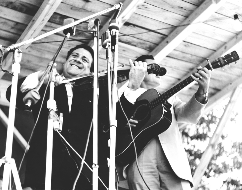 From the Archives:  Benny Martin and Don Reno at the Fincastle festival in 1965.  Photo by Ron Petronko.