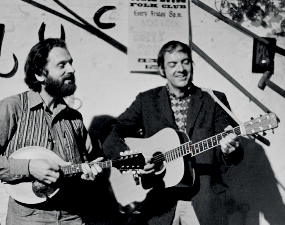 From the Archives:  Mike Seeger and Bill Clifton at the Coach House Folk Club in England 1971.  Photo donated by Ron Petronko.