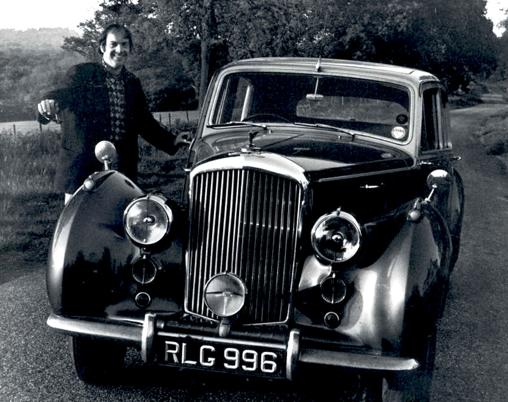 From the Archives:  Bill Clifton and a Bentley in England in 1971.   Photo by Ron Petronko.