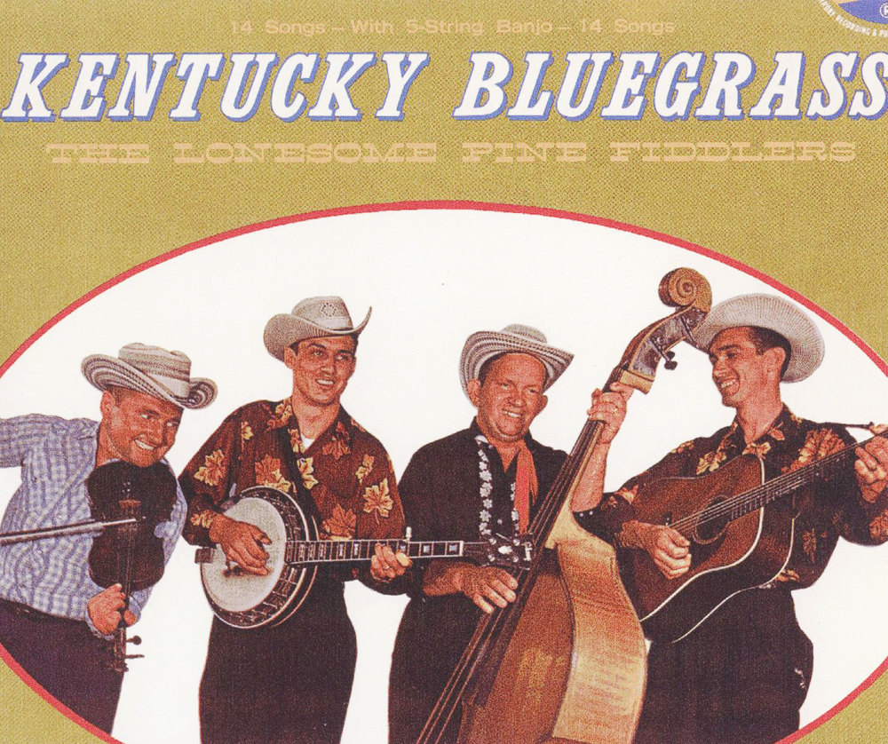 From the Archives:  Album cover for The Lonesome Pine Fiddlers, Kentucky Bluegrass.