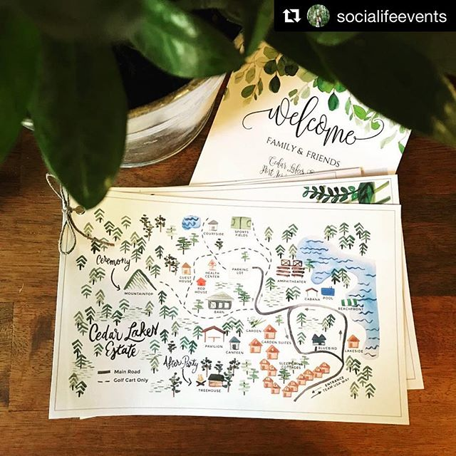 🗺 congratulations to a lovely couple celebrating at a beautiful place! 🗺 ・・・#repost @socialifeevents Celebrating Megan & Sam this weekend @thesistersofcedarlakes! Three days of fun, excitement and lots of food + drinks! Let the festivities begin 🥂💍🍾 . . Venue | @thesistersofcedarlakes Stationery | @susanwiddicombe