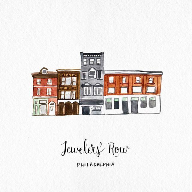 💍💍💍💍💍 . . . . . . #weddinginspiration #weddingstationery #watercolorillustration #weddingmap #philadelphia #jewelersrow #calligraphy #sansomstreet #illustration #dailydoseofpaper #phillywedding