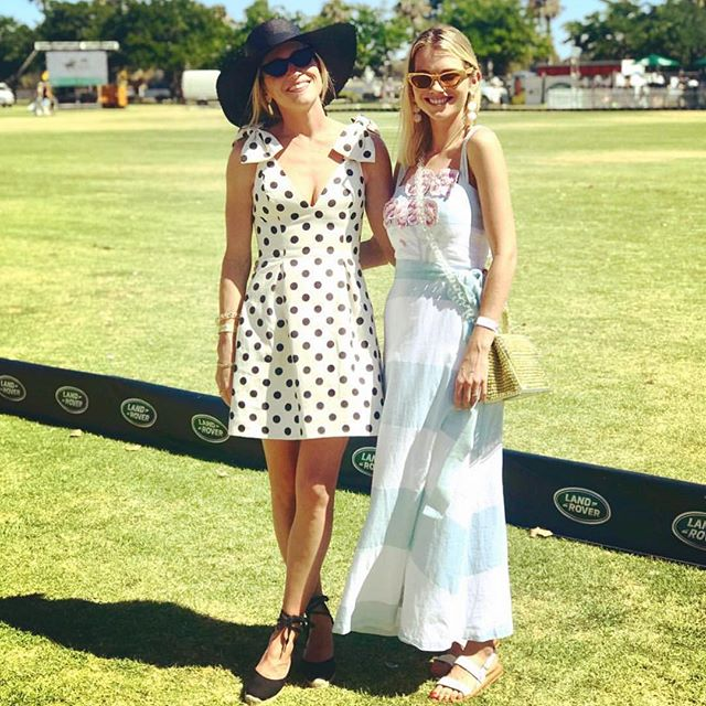 G'day from WA!  At the polo with Perth's finest the gorgeous @cloveraccessories in our 'Sweet William' dress - picture perfect with @wearingittoday  #prettywoman #landroverpolo #polo  #polointhecity #champagne 🐴🥂