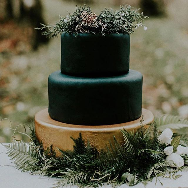 'Tis the season! 🌲🌟 🎁 |  Happy Holidays from #TNMB! |  We're catching all the season feels with this holiday inspired evergreen cake 🍰🌿😌. Let us know your thoughts, comment below! | 📷 @flowerofthelilyevents