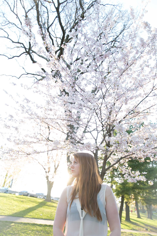 Self Portrait_cherry blossoms