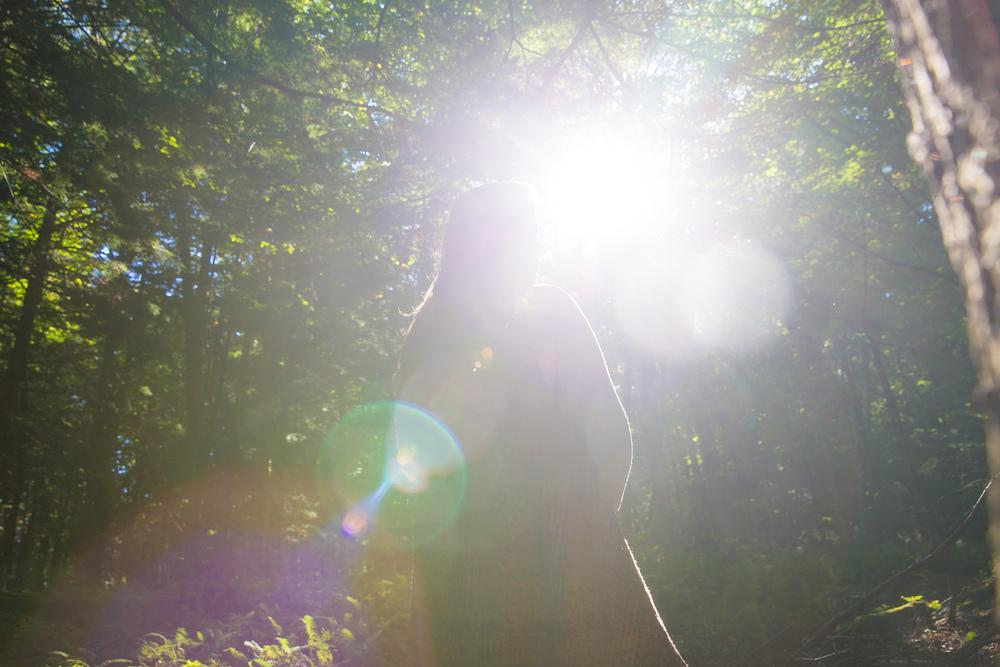 Amber portrait_sunshine silouette