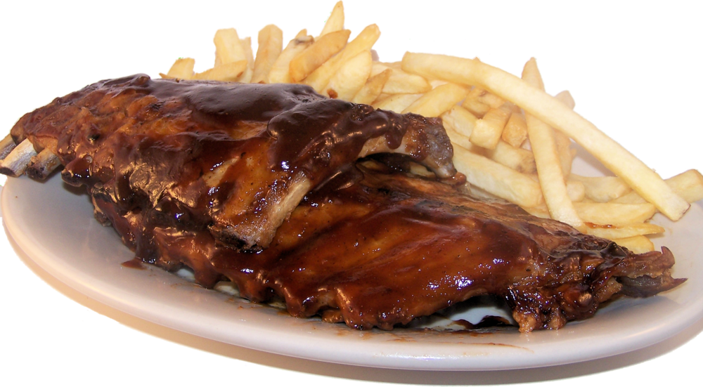 BBQ Baby Back Ribs  Slow cooked with special seasonings and grilled on a wood fire, served with a side of fries. 1/4 Rack $17.99 1/2 Rack $21.99 Full Rack $24.99