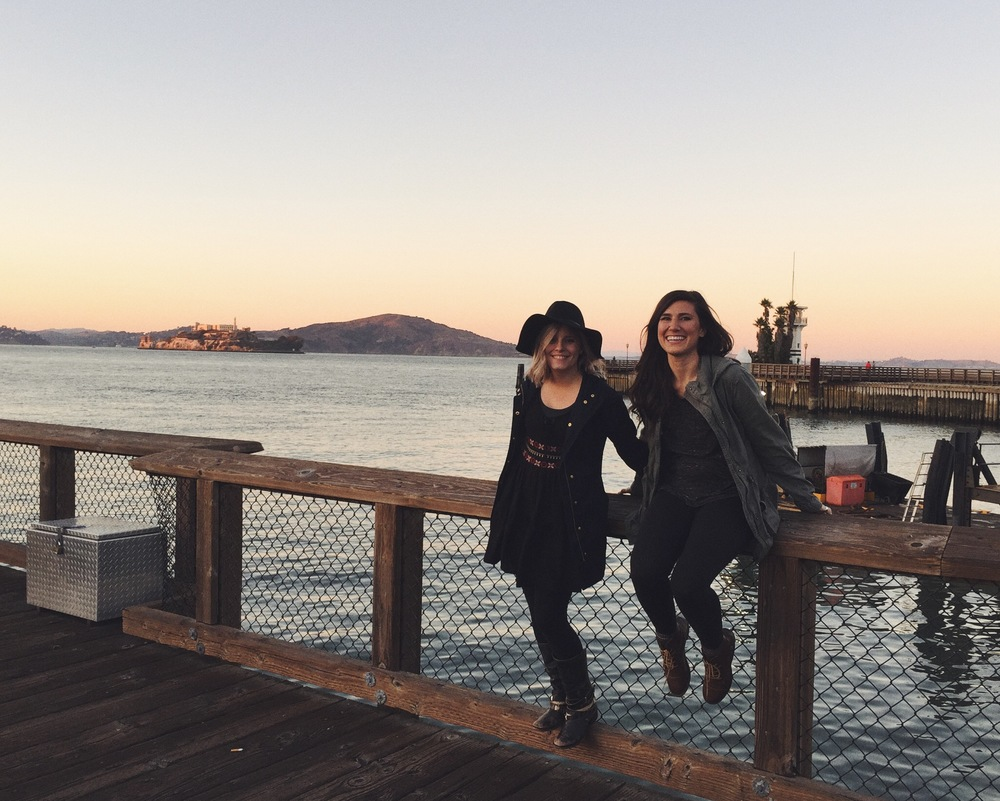 Alcatraz on Pier 39 with my main girl, Kali Chris (HMUA)