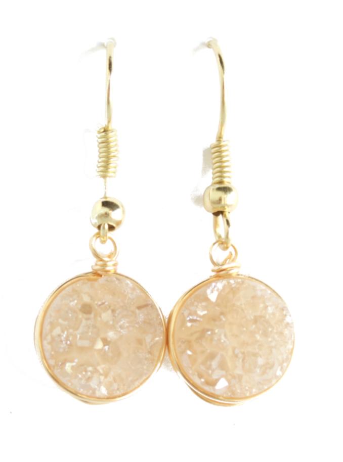 60244978e00d8 Champagne Dangle Earrings