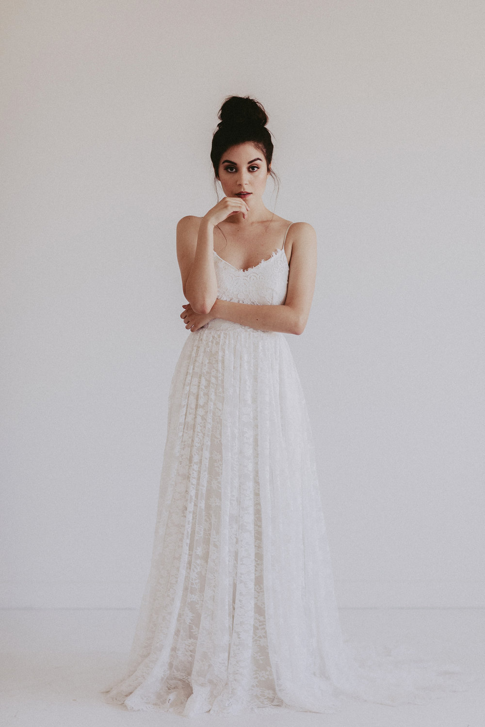 Annie O by Chantel Lauren lace wedding gown a line
