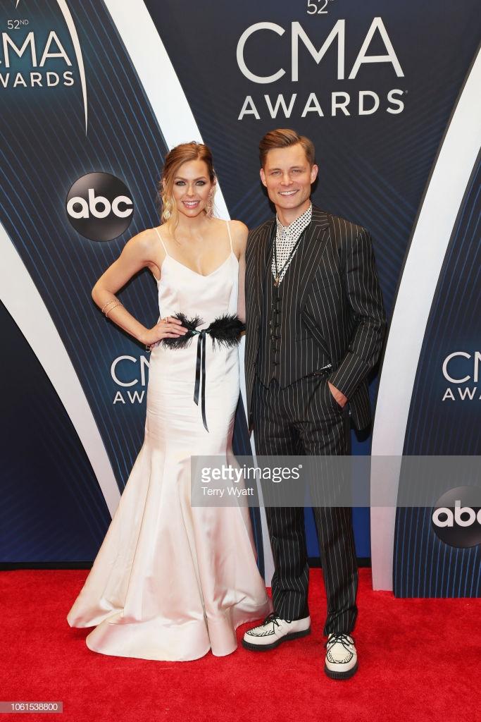 CMA Arrivals Frankie Ballard Chantel Lauren Kacey gown