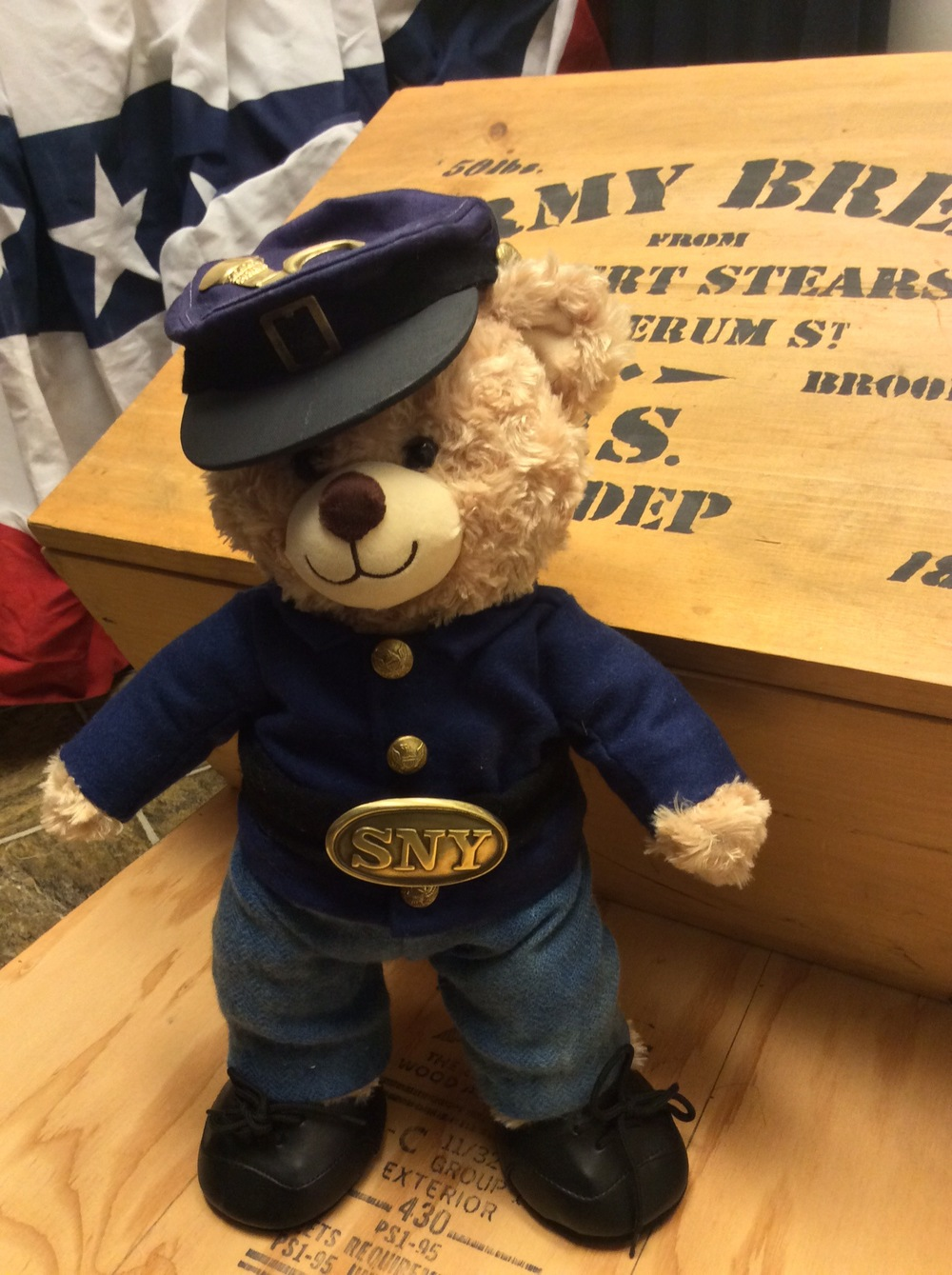 We design and construct even the smallest of uniforms! Here is our Civil War Build-A-Bear!
