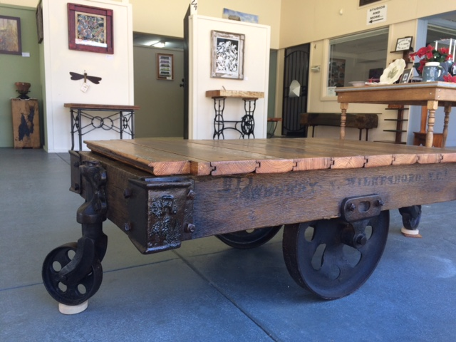 Old Railroad Cart Coffee Table Cabell Gallery