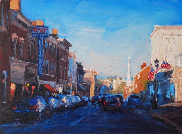 """Main Street Twilight"" by Amy Donahue"