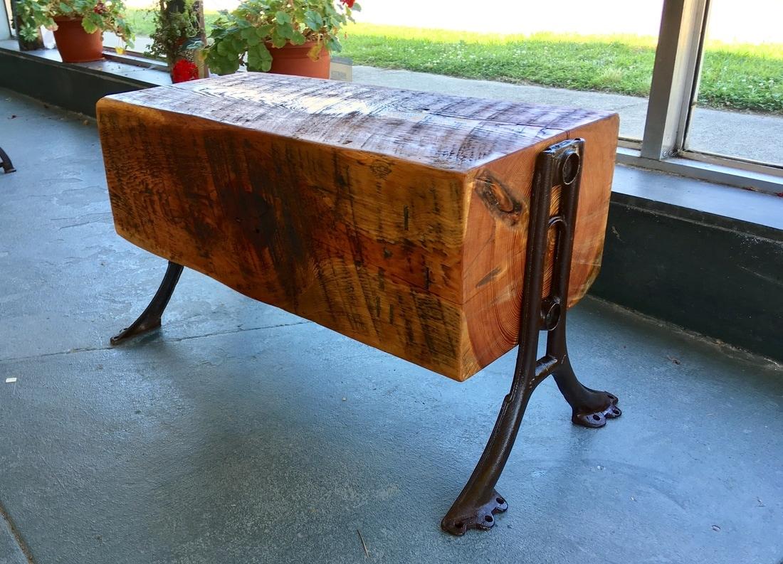 Excellent Heart Pine Beam Table Cabell Gallery Interior Design Ideas Lukepblogthenellocom