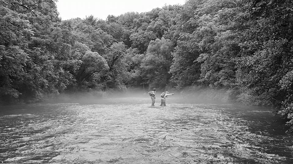 Fly fishing Tuolumne Fall