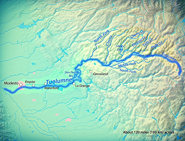 Tuolumne RIver Map