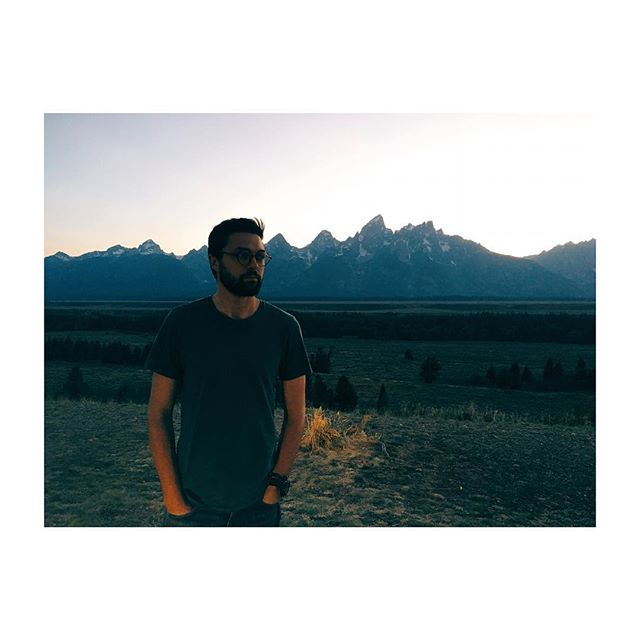 Tetons at dusk  #yeezy #grandtetons #beauty