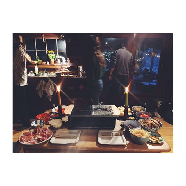 French raclette Thanksgiving at Klamath Winery. ✨