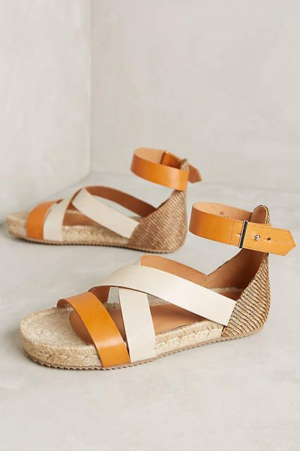 Tan Flatform Espadrilles, Anthropologie