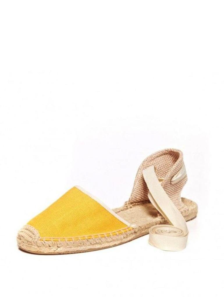 Bright Yellow Espadrilles, Soludos
