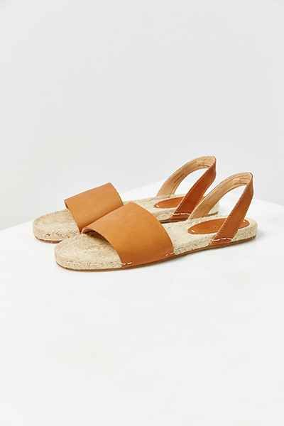 Leather Slingback Espadrilles, Soludos