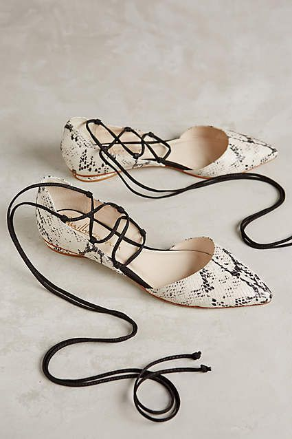 Guilhermina Rattler Wrap Around Flats