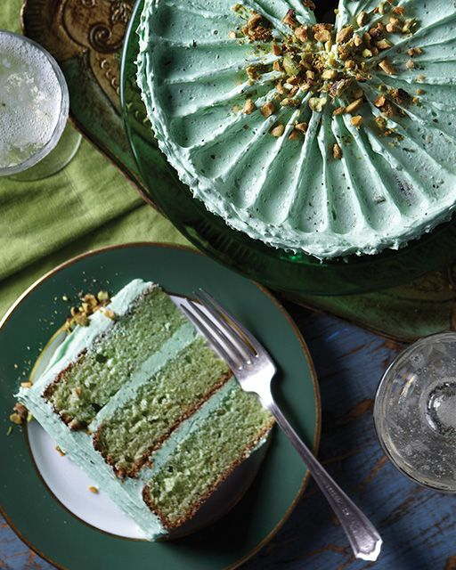 Pistachio Layer Cake from Sweet Paul