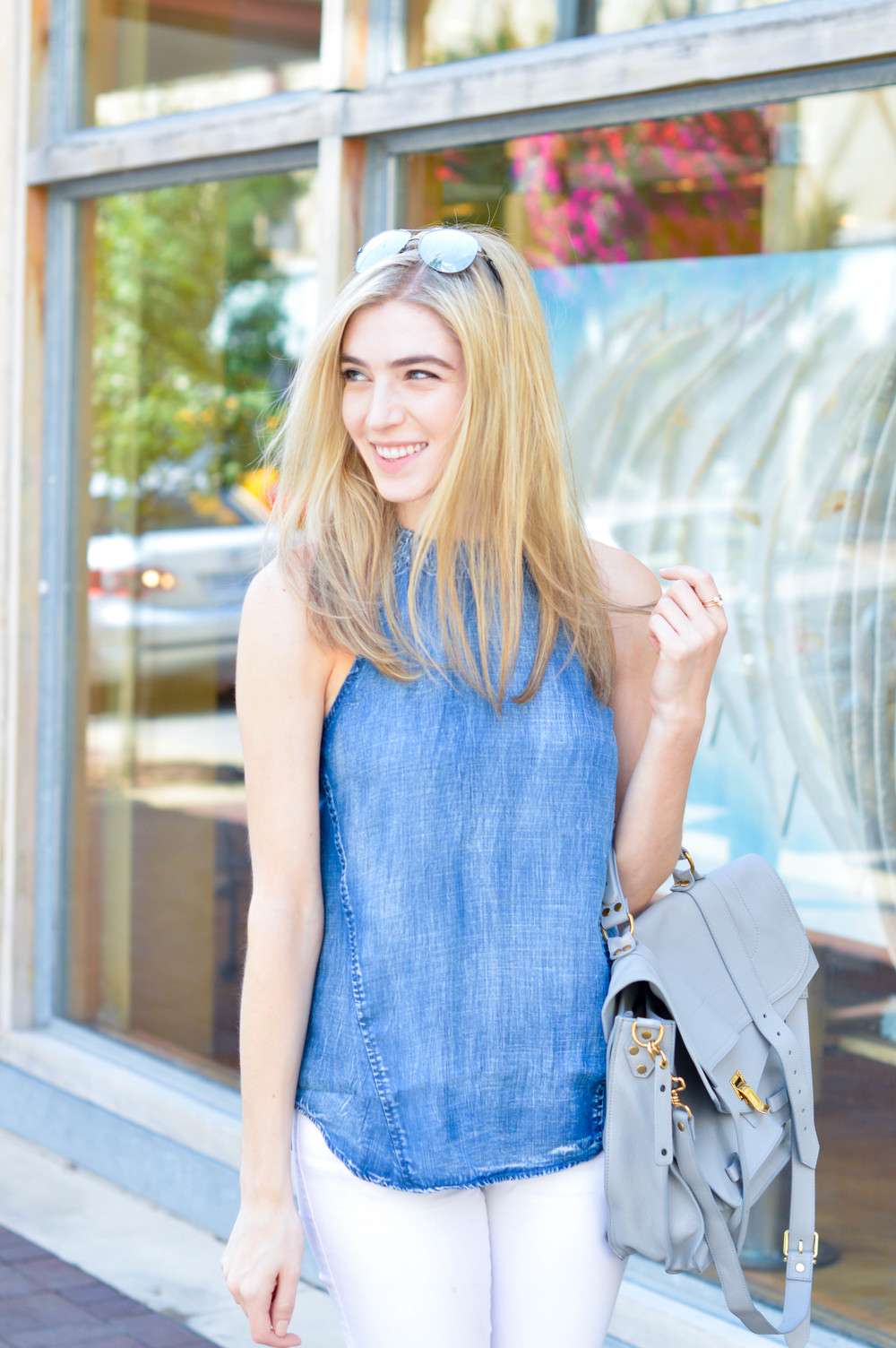 Denim Halter Top