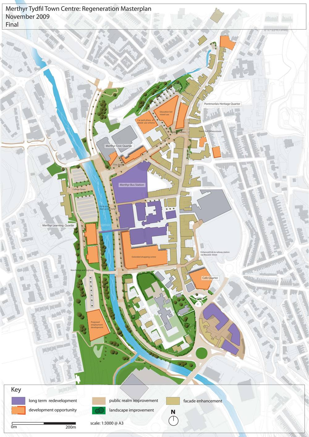 Masterplan vision for Merthyr Tydfil town centre