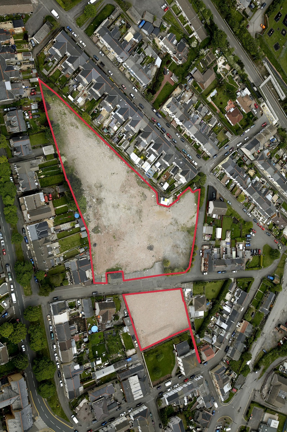 The Factory Road development site in context.