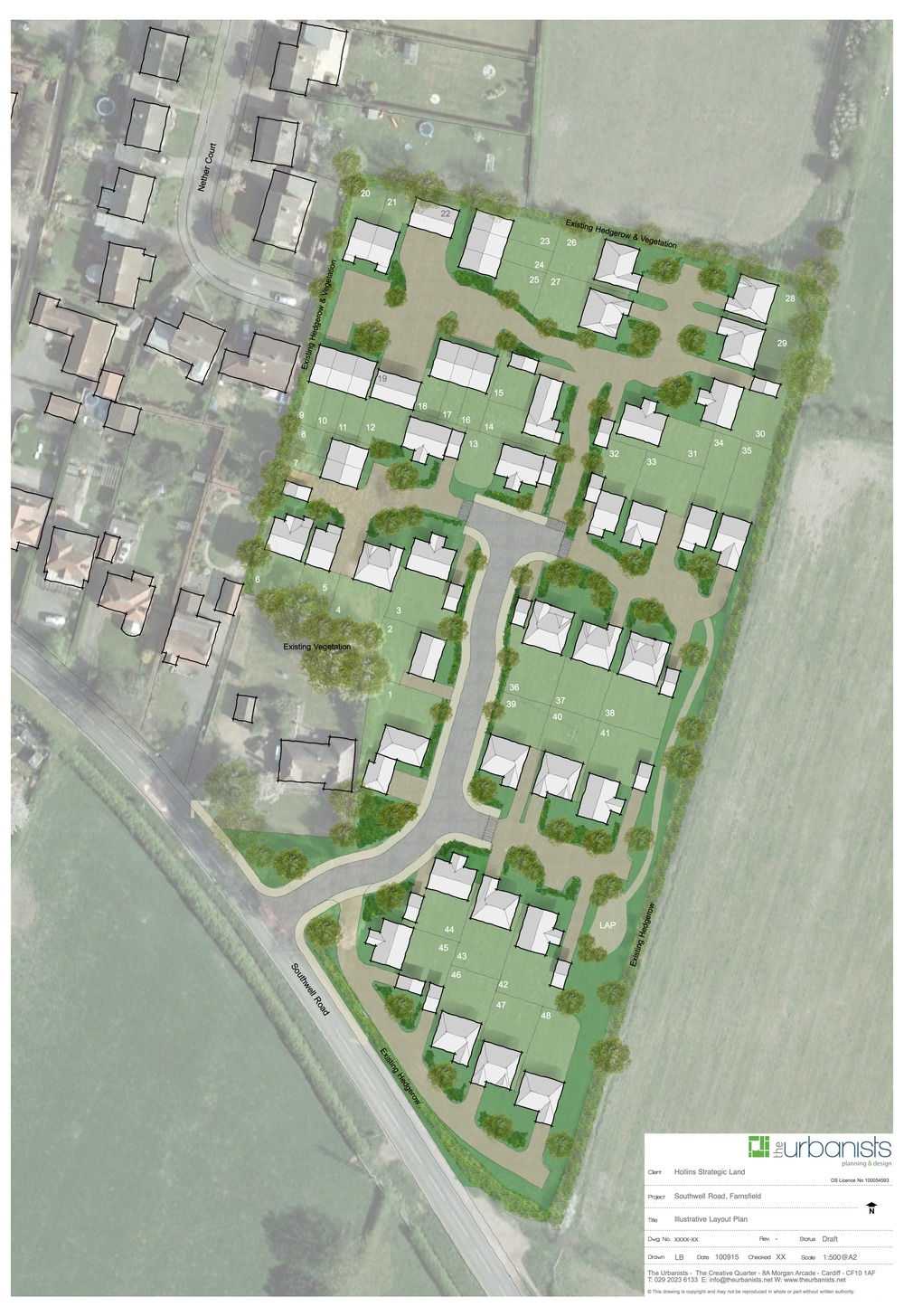 Proposed development of 48 dwellings on an edge of settlement site