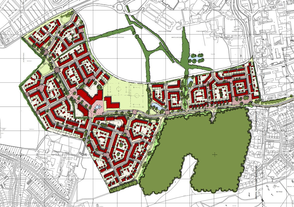 Masterplan for redevelopment of former HP site, Filton, Bristol