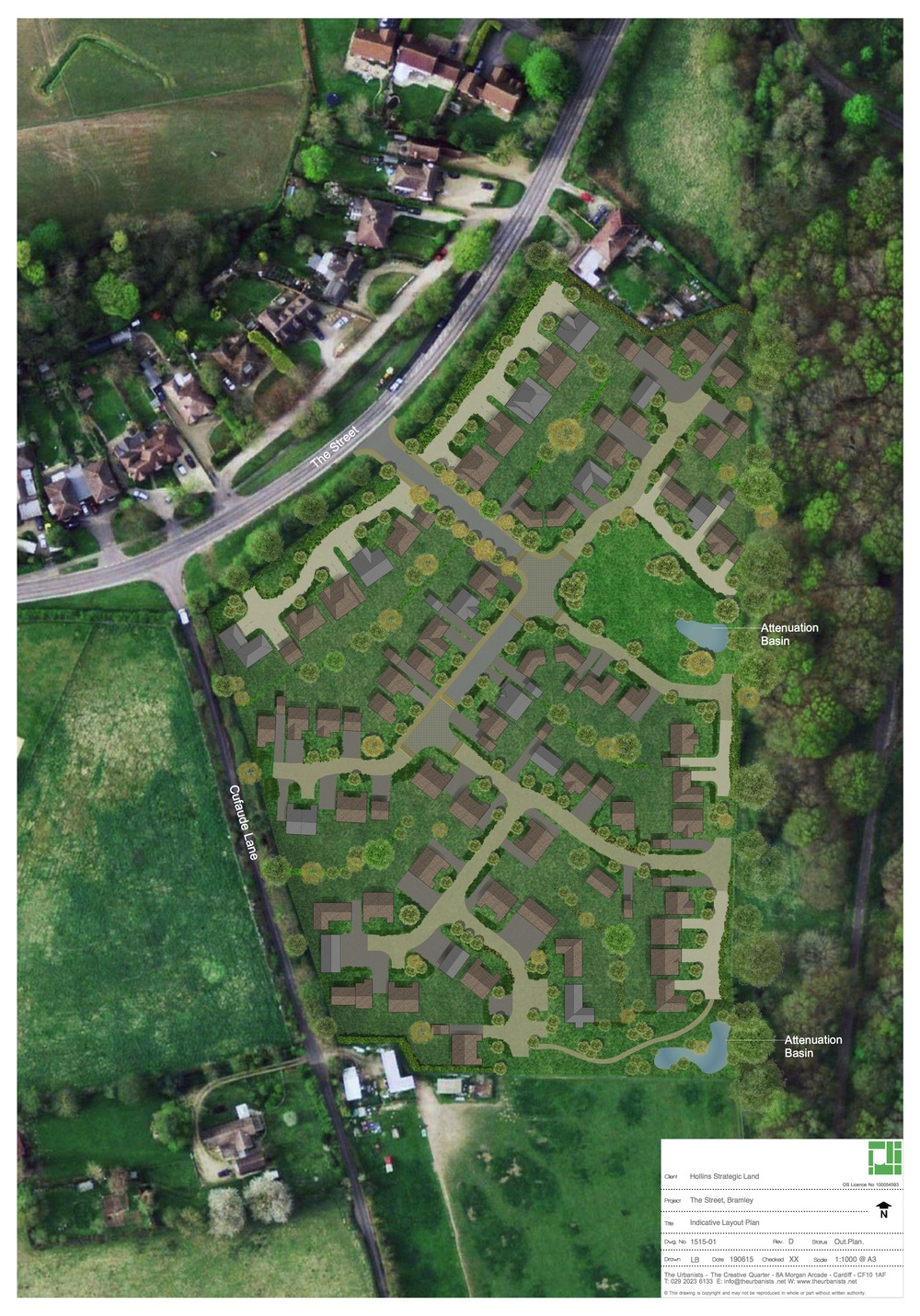 Proposed development of up to 82 dwellings on an edge of settlement site