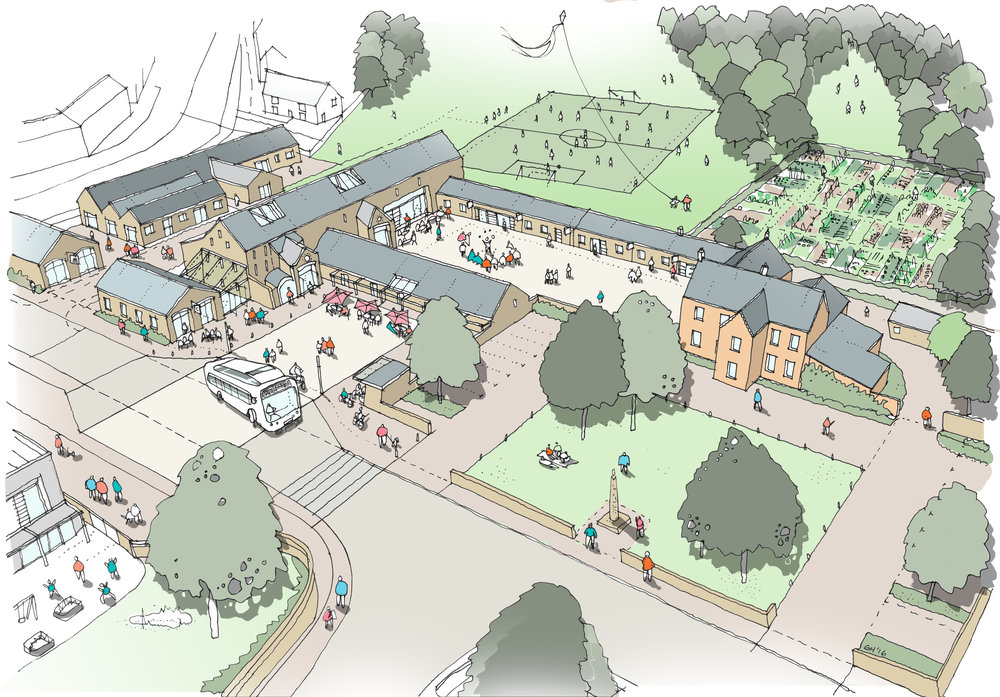 Artist's impression of Pentrebane Farm